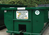 Lawrence Waste Services dumpster