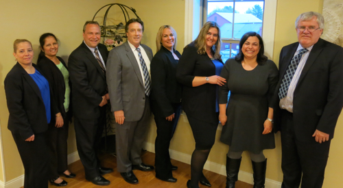 (Left to Right) Luz Acevedo; Sandhya Jayarama; Michael Bilinsky; President & CEO, Mark Haranas; Mildred Dones; Debra Miranda; Glaiz Herdman; Kevin Chandley.