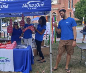 MutualOne Bank's booth at Natick Days