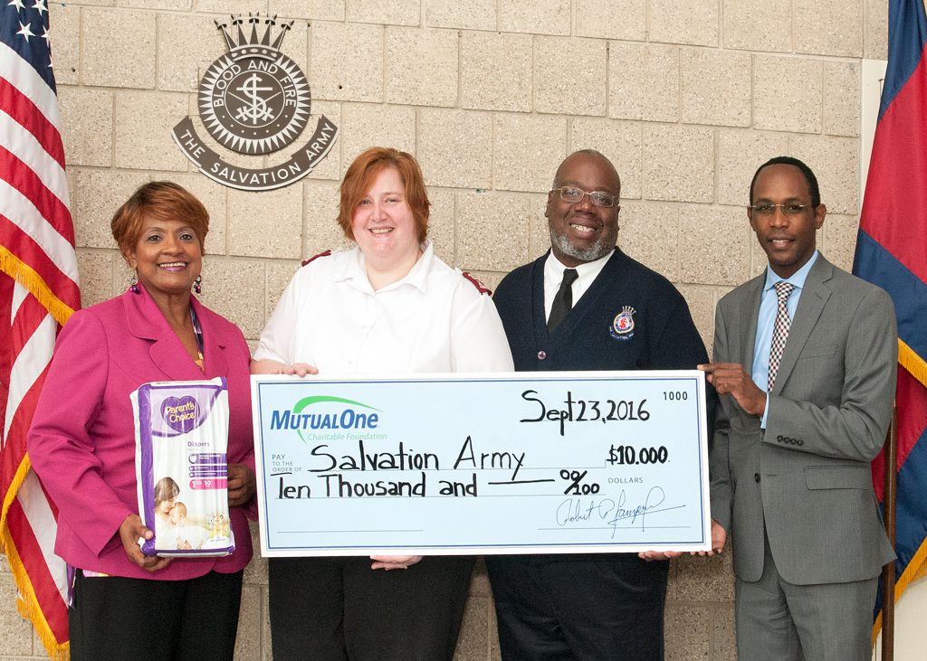 Salvation Army Check Presentation