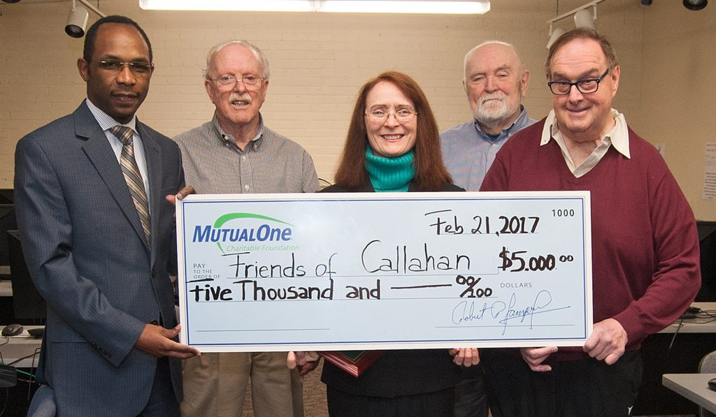Friends of Callahan check presentation