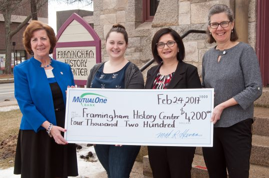 Framingham History Center check presentation