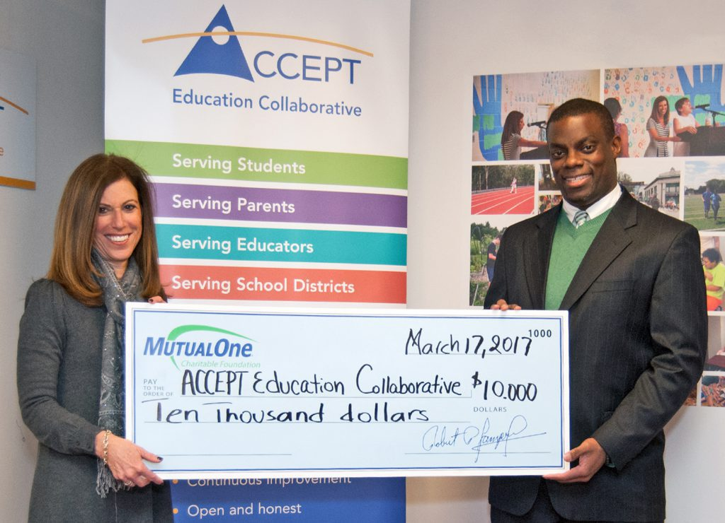 ACCEPT Education Collaborative check presentation