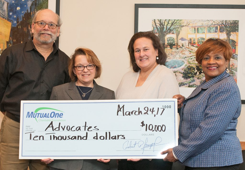 Advocates check presentation