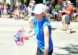 July 4th 2017 handing out more flags