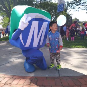 Natick Days Mo with child