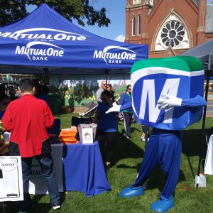 Natick Days Mo at MutualOne Bank tent
