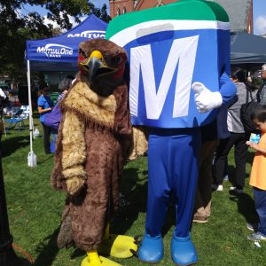 Natick Days Mo with Eagle Mascot