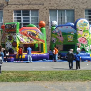 Two bounce houses
