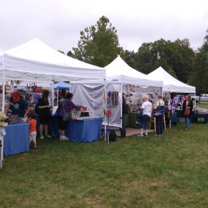 MetroWest Humane Society Craft Fair tents with crafts