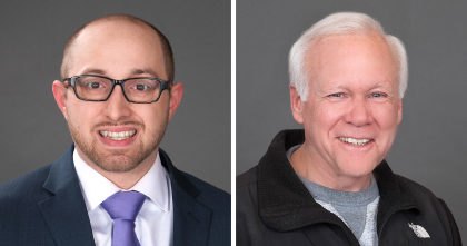 October 2017 Employees of the Month Anthony Sturniolo, Peter Hall
