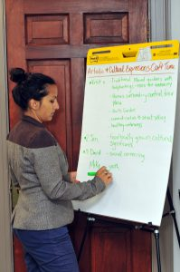 MAPC Planning Meeting woman writing on board