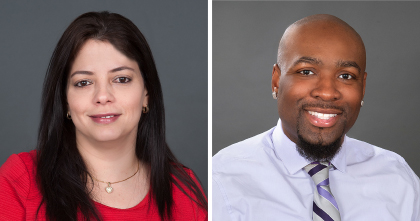Employees of the Month July 2018 - Julia Arroyo (left), Timothy Ellerbe